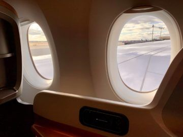 singapore airlines business class a350 900ulr fenster