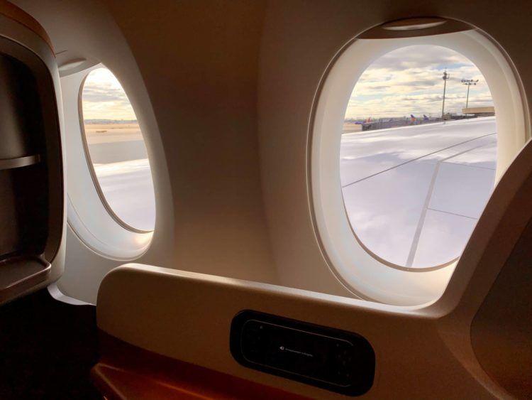 Singapore Airlines A350-900ULR Blick aus dem Fenster