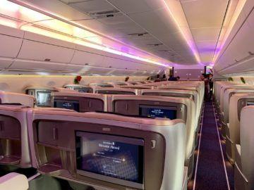 singapore airlines business class a350 900ulr kabine hinten 3