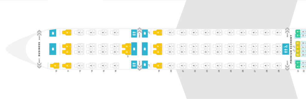 singapore airlines business class a350 900ulr seatmap