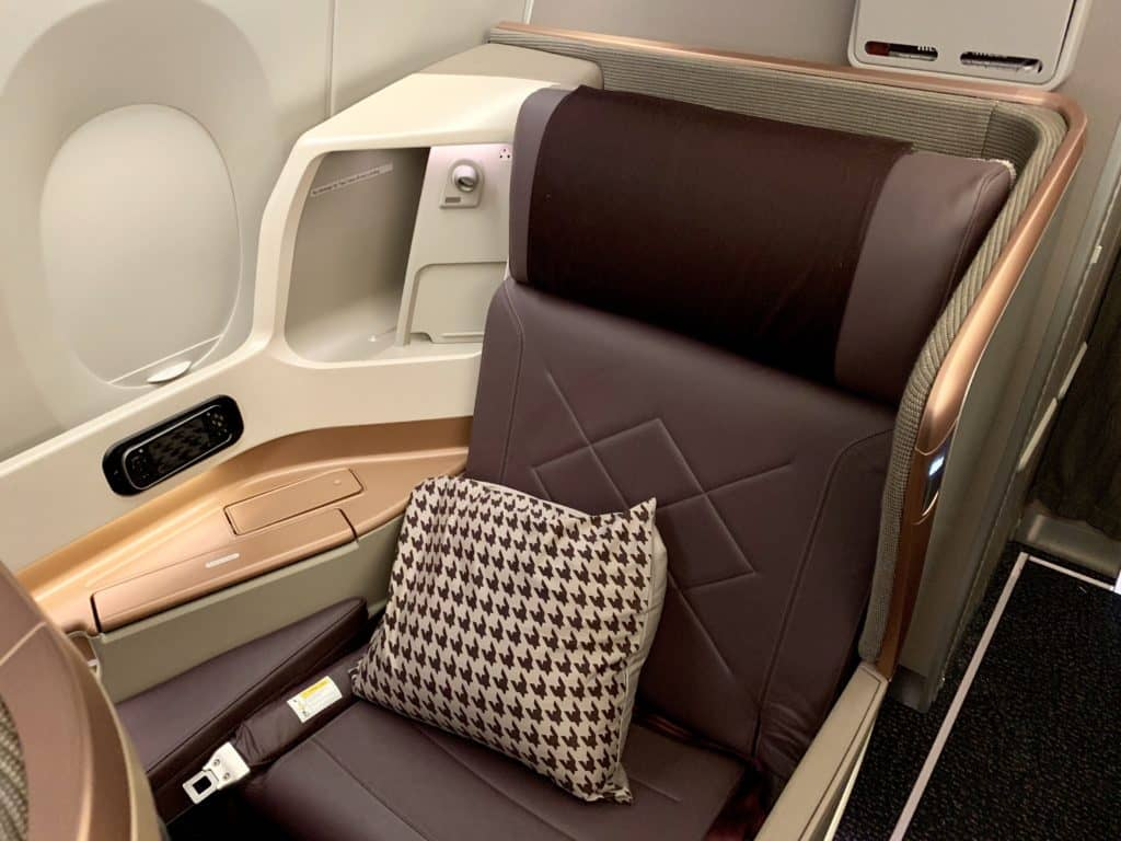singapore airlines business class a350 900ulr sitz 1