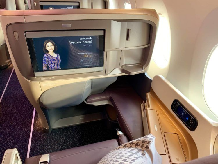 singapore airlines business class a350 900ulr sitz 2