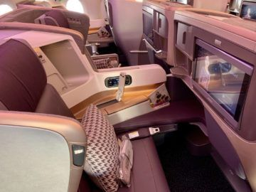 singapore airlines business class a350 900ulr sitz 3