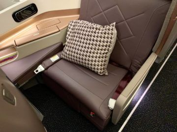 singapore airlines business class a350 900ulr sitz 4