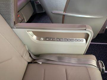 singapore airlines business class a350 900ulr sitzeinstellungen