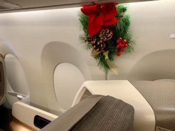 singapore airlines business class a350 900ulr weihnachtsdeko 2