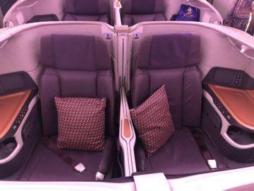 singapore airlines business class neu a380 800 mittel sitz