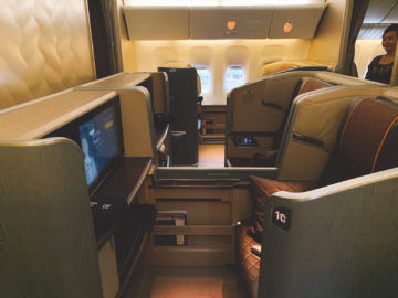 singapore airlines first class 777 300er kabine 2