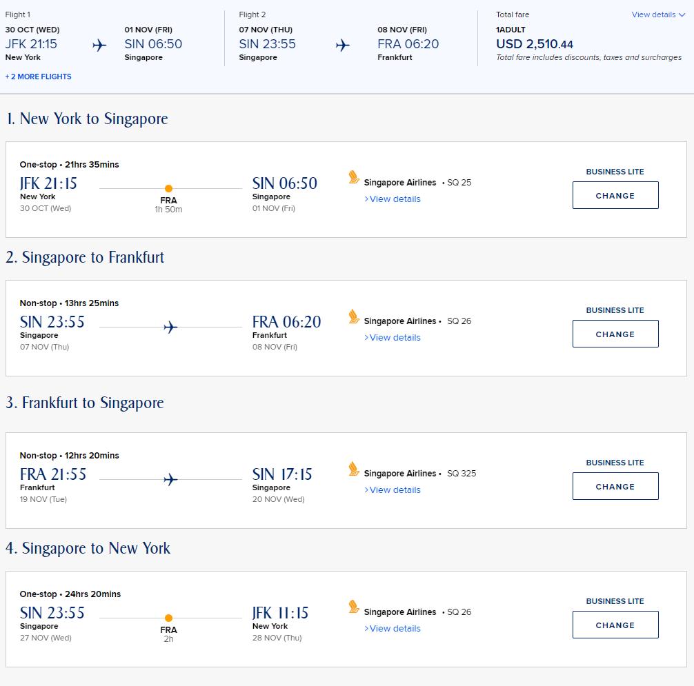 singapore airlines new york frankfurt singapore 1