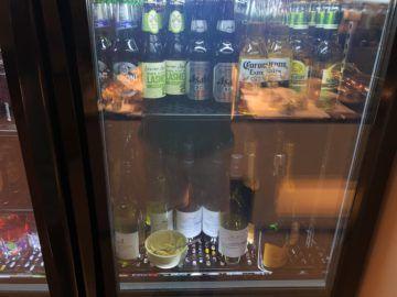 singapore airlines silverkris lounge brisbane bier brut wein