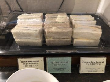 Singapore Airlines SilverKris Lounge Hong Kong Sandwiches