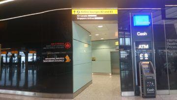 singapore airlines silverkris lounge london heathrow eingang zur lounge