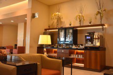 Kaffeemaschine im Sitzbereich