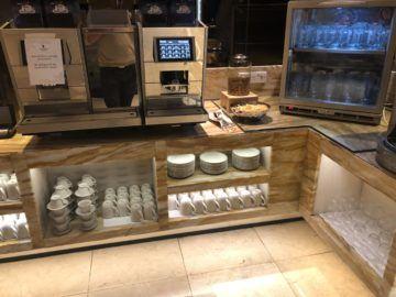 singapore airlines silverkris lounge terminal 2 kaffeemaschine