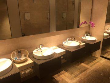 singapore airlines silverkris lounge terminal 2 waschbecken
