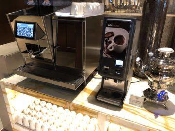 singapore airlines silverkris lounge terminal 3 kaffemaschine