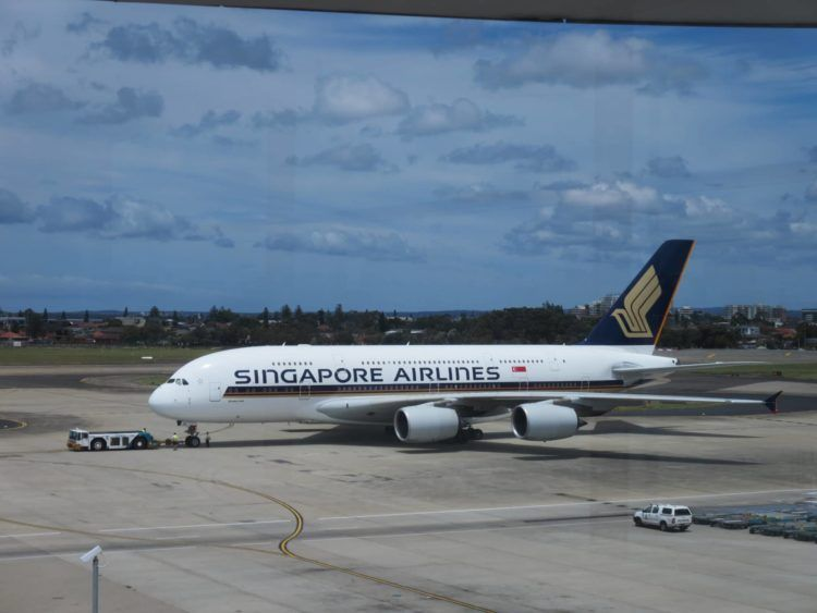 singapore airlines a380 sydney