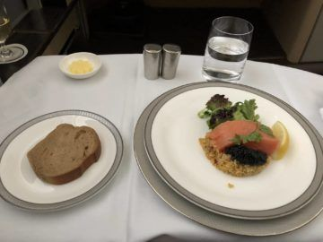 singapore airlines first class 777 kaviar