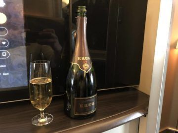 singapore airlines first class 777 krug champagner