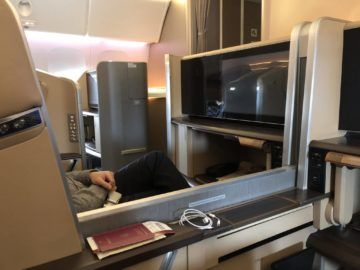singapore airlines first class 777 offene trennwand