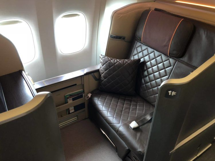 singapore airlines first class 777 sitz