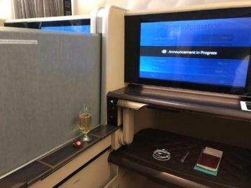 singapore airlines first class 777 trennwand geschlossen