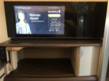 singapore airlines first class 777 tv