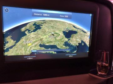 singapore airlines neue business class a380 flight information system 1