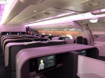 singapore airlines neue business class a380 kabine hinten 1
