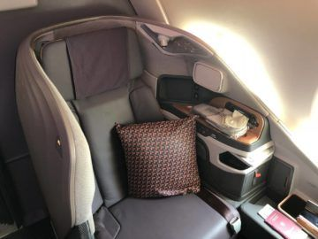 singapore airlines neue business class a380 sitz