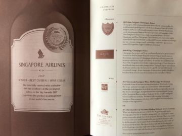 singapore airlines neue first class a380 champagner auswahl