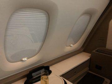 singapore airlines neue first class a380 fenster geschlossen