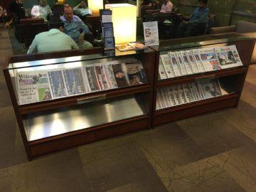 singapore krisflyer gold lounge terminal3 zeitschriften