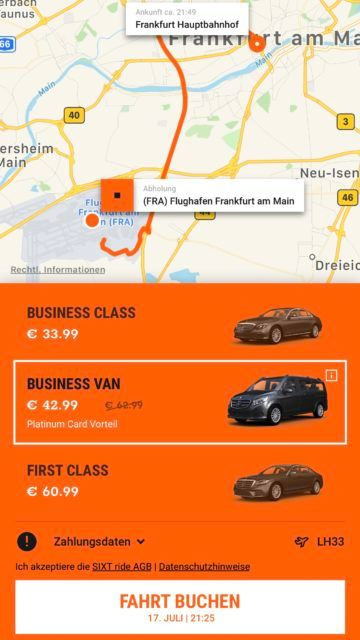 sixt ride app screenshot 4