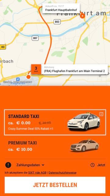 sixt ride app screenshot 5