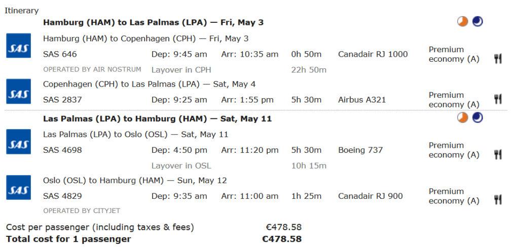 SAS Premium Economy Flüge bringen jede Menge Meilen bei Aegean Miles+Bonus