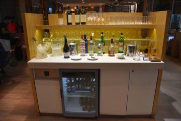 alkoholische Getränke im hinteren Bereich
