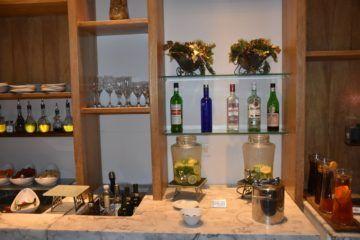 alkoholische Getränke am Hauptbuffet
