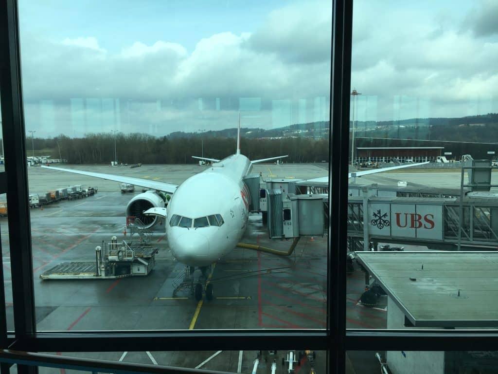 Swiss 777-300ER - Unser Flieger nach Los Angeles