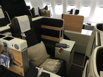 swiss business class 777 300er kabine 1