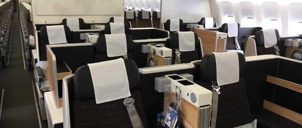 swiss business class 777 300er kabine 2