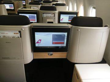 swiss business class 777 300er kabine 4