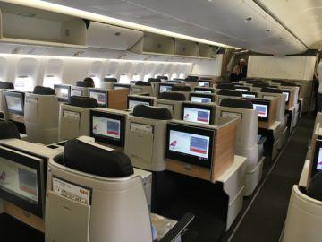 swiss business class 777 300er kabine 5