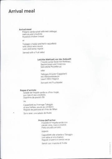 swiss business class menu zuerich los angeles 8