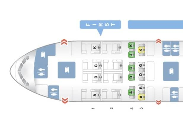 swiss first class boeing 777 300er sitzplan seatguru