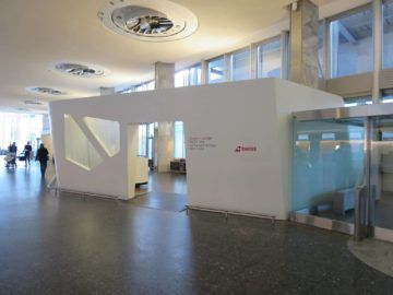 Swiss First Class Check-in Bereich