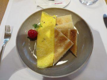 Swiss First Class Lounge Zürich A Omelett
