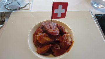 swiss first class lounge zuerich e essen currywurst