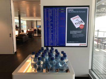 swiss senator lounge zuerich airport gates e wasserflasche
