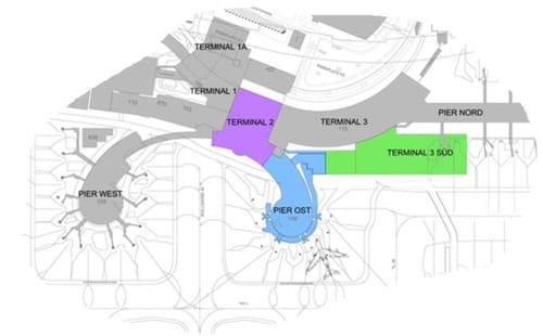 Plan der Flughafenmodernisierung in Wien